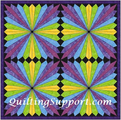 Free HC Rainbow Fan Template Pattern quilting-quilts Pinterest - rainbow template