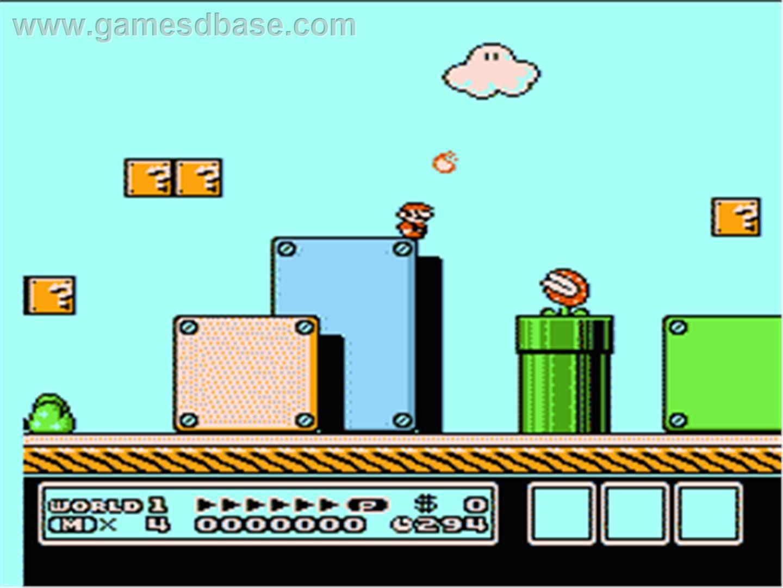 Super Mario 3 In Game Image Of Super Mario Bros 3 On The