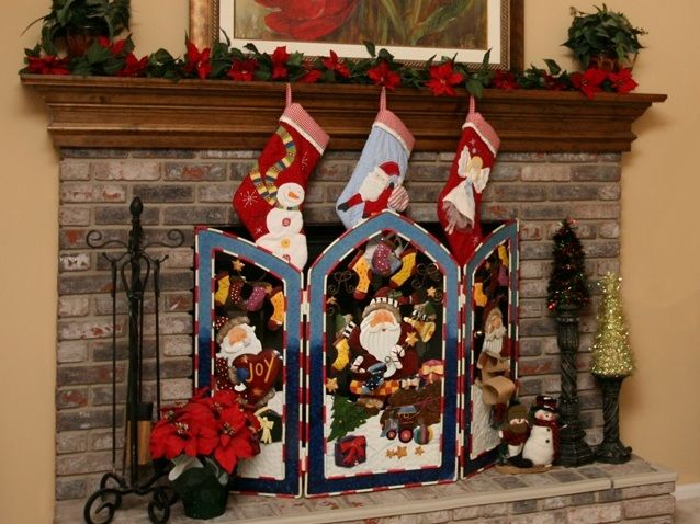 christmas fireplace screen  Fire Pit For Your home in