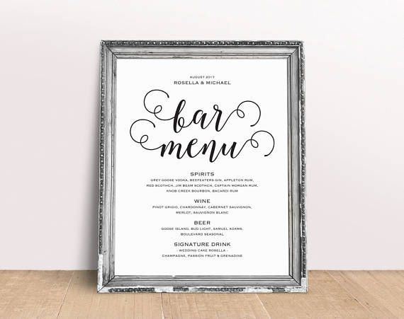 Bar Menu Template Bar Menu Bar Menu Printable Bar Menu Bar Menu