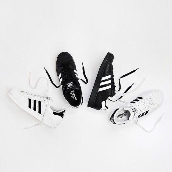 adidas superstar mens i formatori in bianco nero trainer negozi