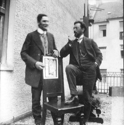 Franz Marc Und Wassily Kandinsky M Nchen 1911 Old