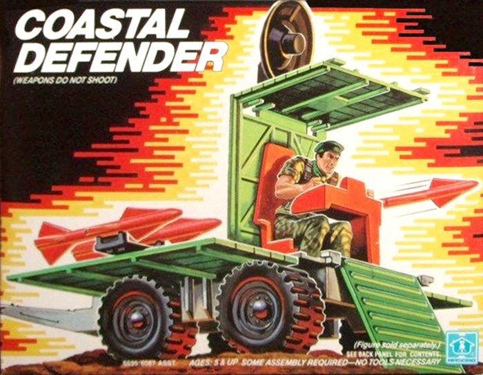G.I JOE COASTAL DEFENDER TOP PANEL 1987 ORIGINAL ARAH