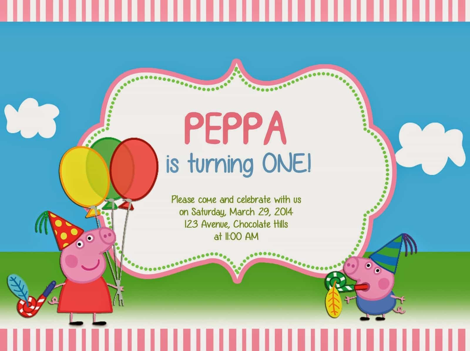 Cool How To Create Peppa Pig Birthday Invitations Templates Check More At