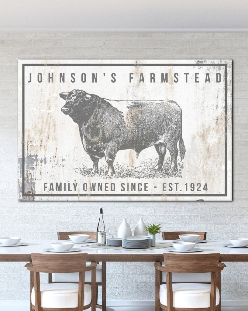 Personalized Home Decor Farm Sign Personalized Gift