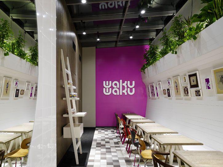 WakuWaku fast food restaurant interior design | Restaurant ...