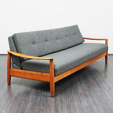 Wk Dreisitzer Sofa Mit Schlaffunktion Kirschholz