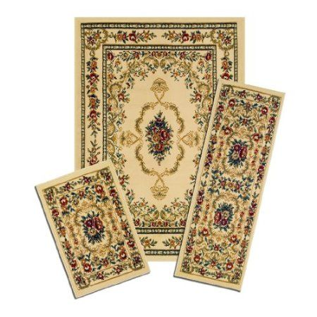 Amazon Com Achim Home Furnishings Capri 3 Piece Rug Set