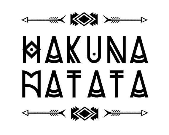 Rustic decor hakuna matata tribal arrow print nursery tribal decor tribal theme decor lion king - Signification hakuna matata ...