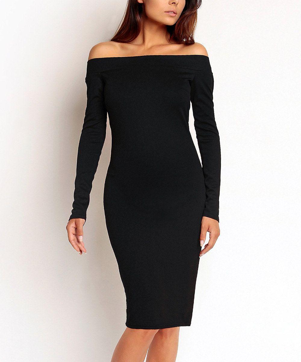 Black offshoulder dress clothes u accessories pinterest