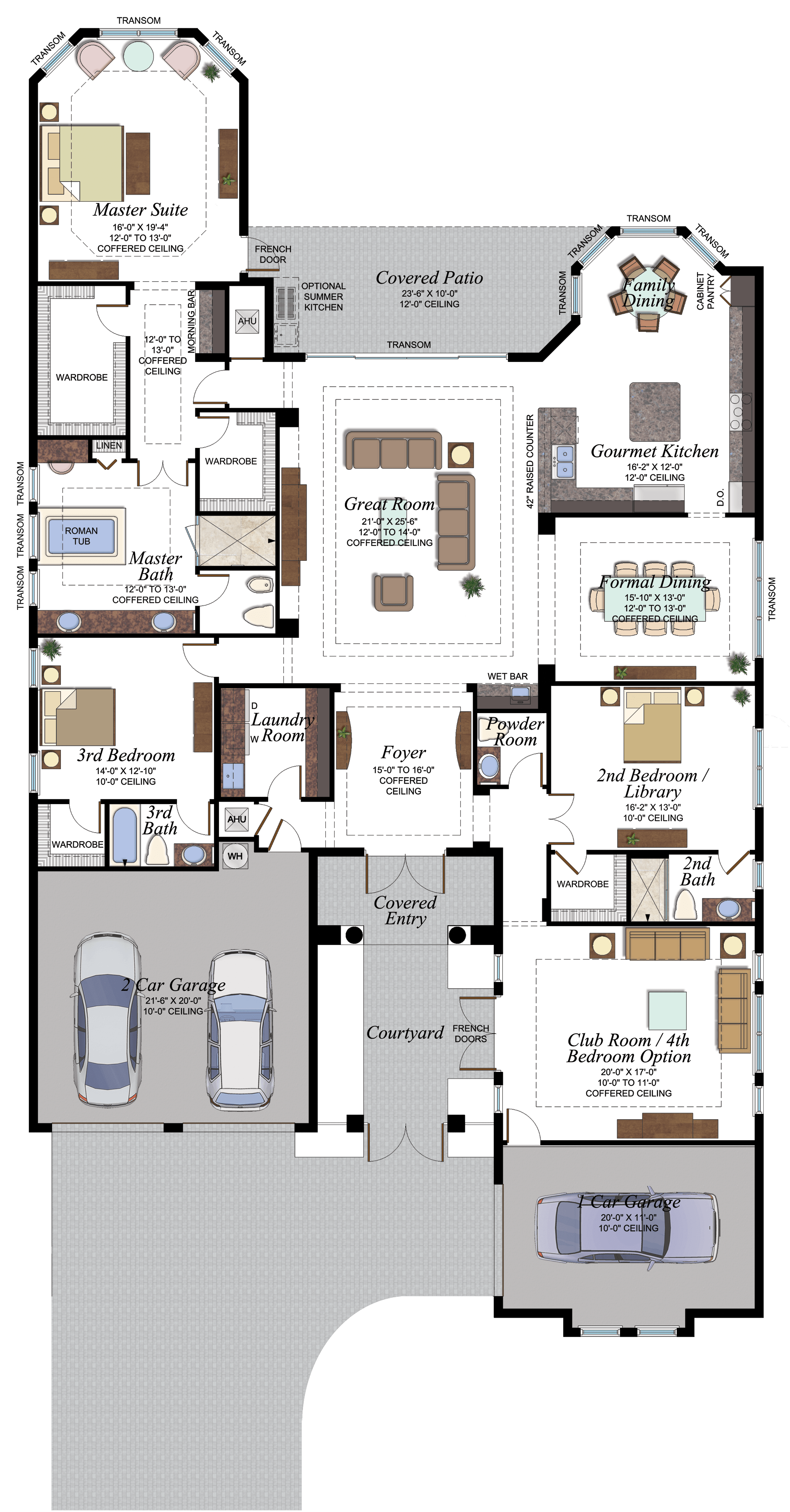 The Victoria Plan in the Coastal Collection at Seven Bridges ... on townhouse plans florida, kitchen cabinets florida, cottage plans florida, open floor plans florida, swimming pool plans florida,