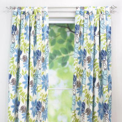 Chooty Co Monaco Breeze Cotton Tab Top Curtain Panel Curtains