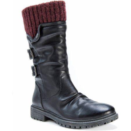 MUK Luks Women's Macy Boots, Size: 7, Black