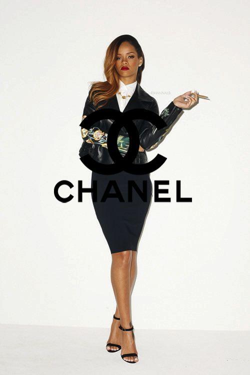 Rihanna as Chanel girl.