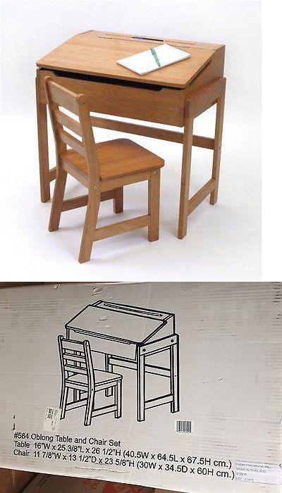0f59a7c42b9 Desks 115750  New Lipper International Child Kid Slanted Top Desk And Chair  Set - Pecan 564 -  BUY IT NOW ONLY   81.99 on  eBay  desks  lipper ...