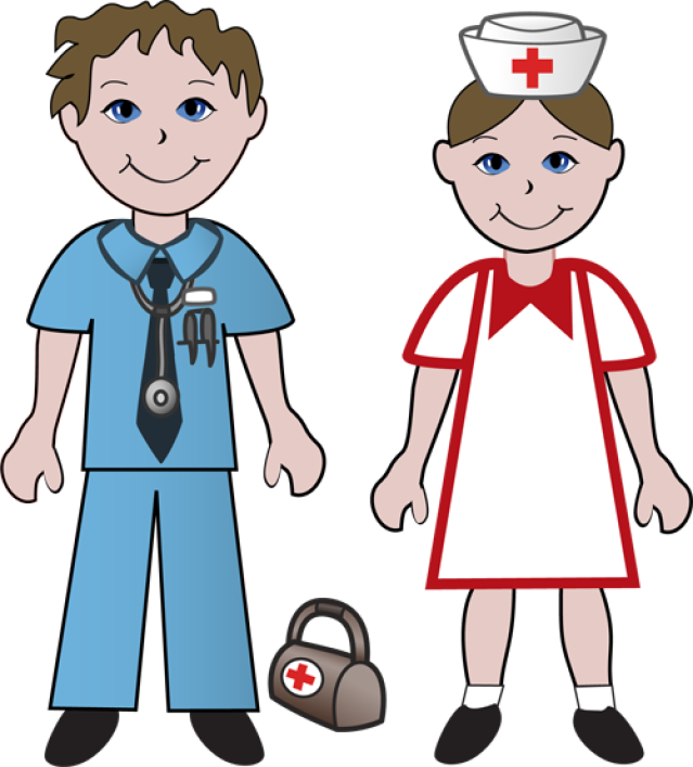 Free Clip Art Of Doctors and Nurses Doctor and Nurse