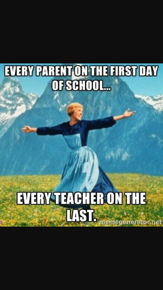 Summer vacation teacher humor. The Hills are Alive ...