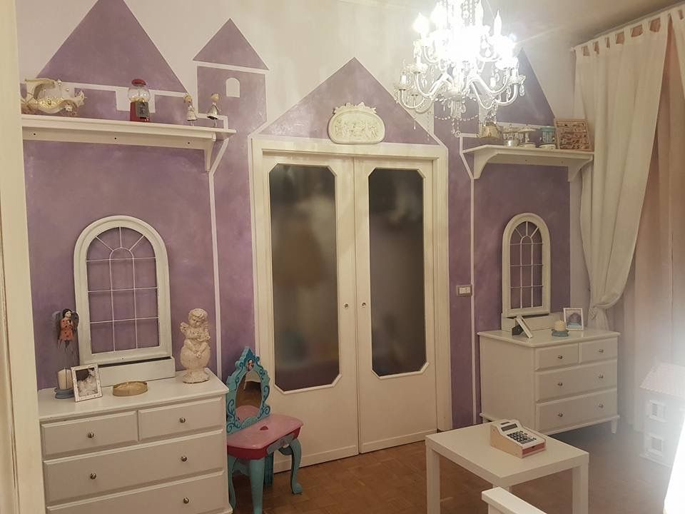 Camera bambina castello dipinto a mano con klondike la for Camera bambina