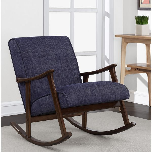 Retro Indigo Wooden Rocker - Overstock Shopping - Great Deals on Living Room Chairs