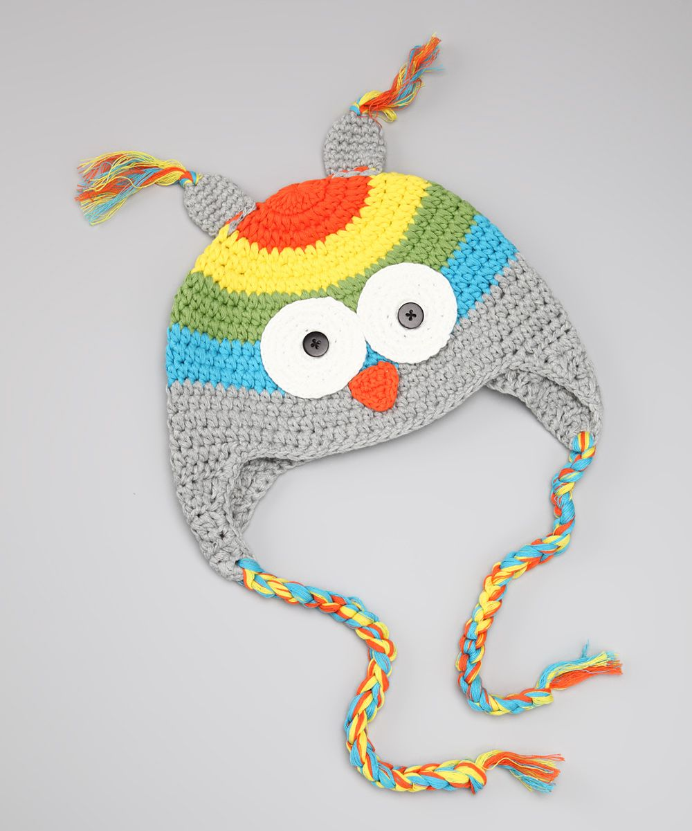 Gray Owl Crocheted Earflap Beanie | Crafts for my mom! | Pinterest ...