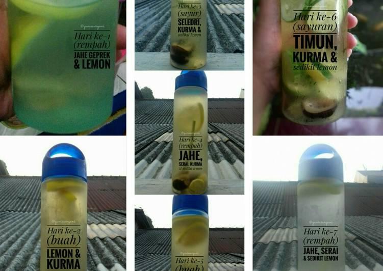 Resep 65 Infused Water Jsr Oleh Yunia Resep Infused Water Buah Serai