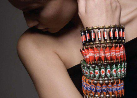 Hecha con chapas de botellas. ¿A que es Hermoso? Made from bottle caps. Is not beautiful?  Suggesting by (Recyclart)