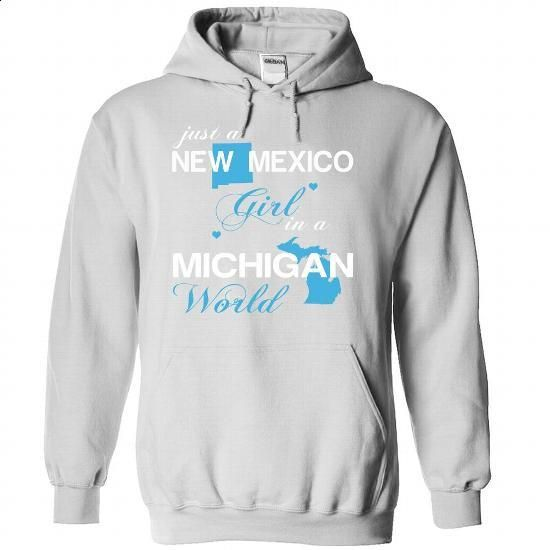 (NMJustXanh001) Just A New Mexico Girl In A Michigan Wo - hoodie outfit #checkered shirt #sweatshirt for teens