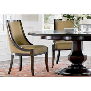 Love this perimeter leaf dining table.