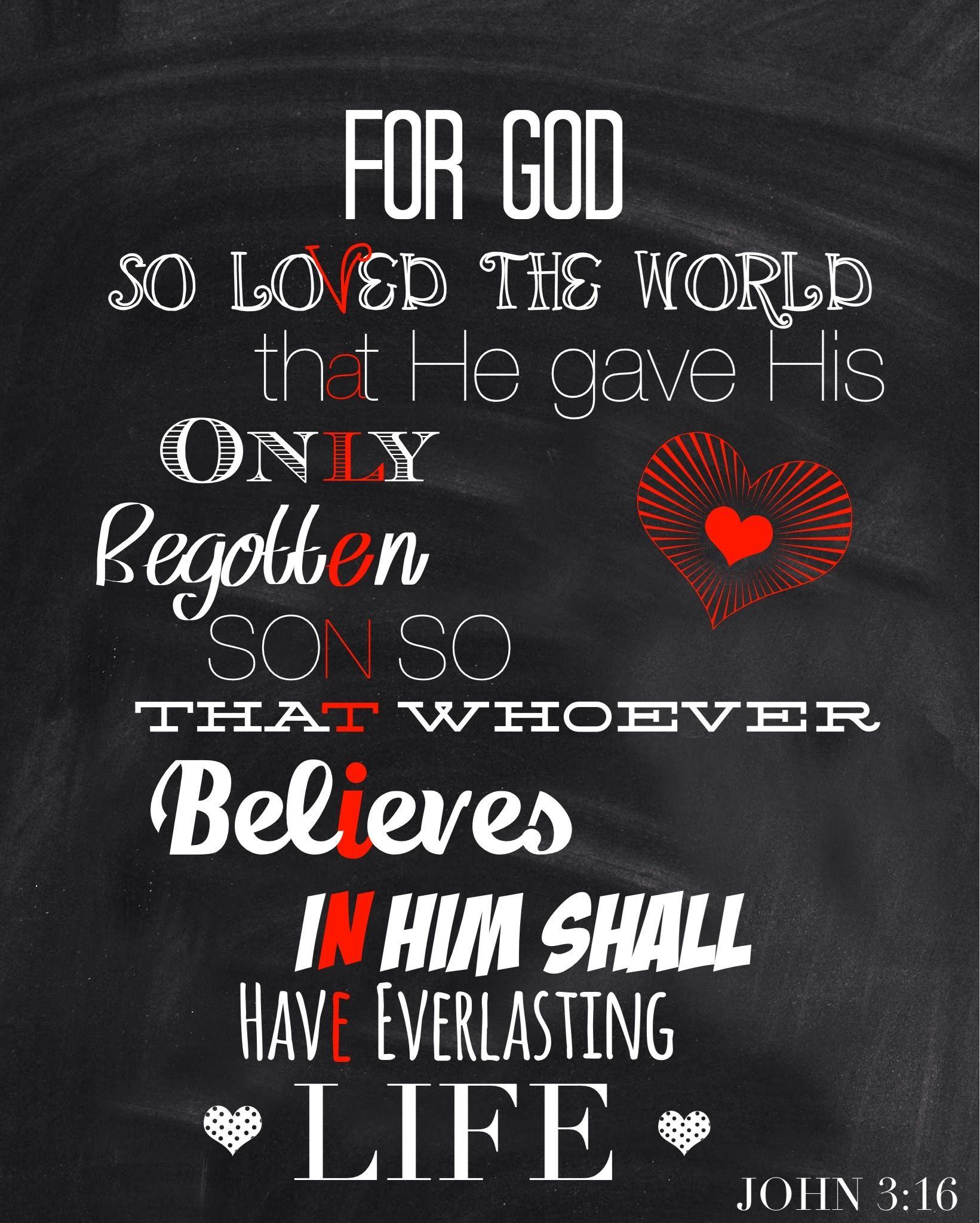 Valentine Verse John 3 16