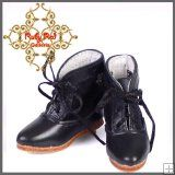 EH0032C Black Leather & Lace Boots