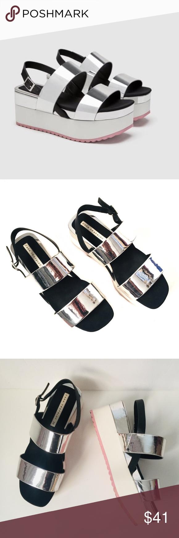 SILVER STRAPS | Flatform sandals