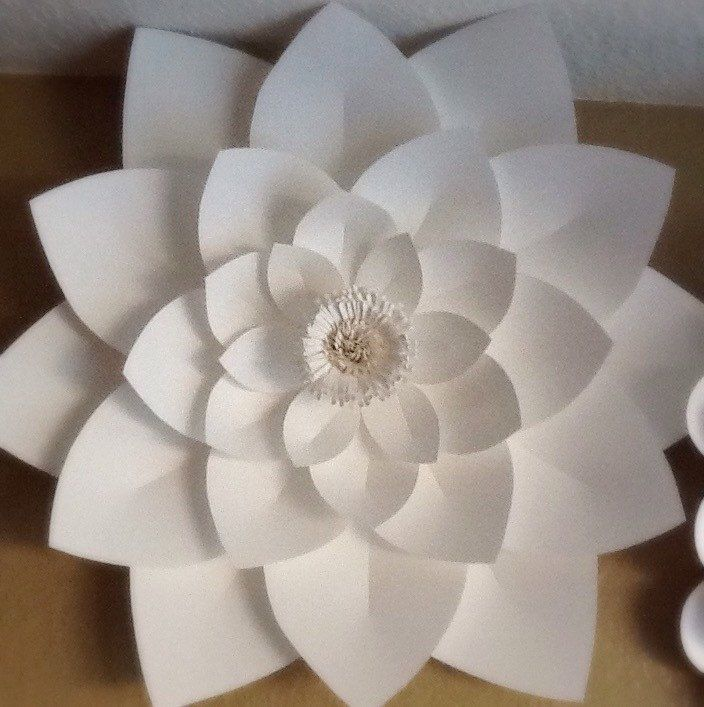 Large Paper Lotus Flower -Wedding Decor- custom color | Created ...