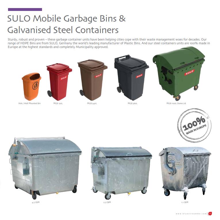 90 Litre Black Plastic Storage Waste Rubbish Litter Dustbin Container Bin /& Lid