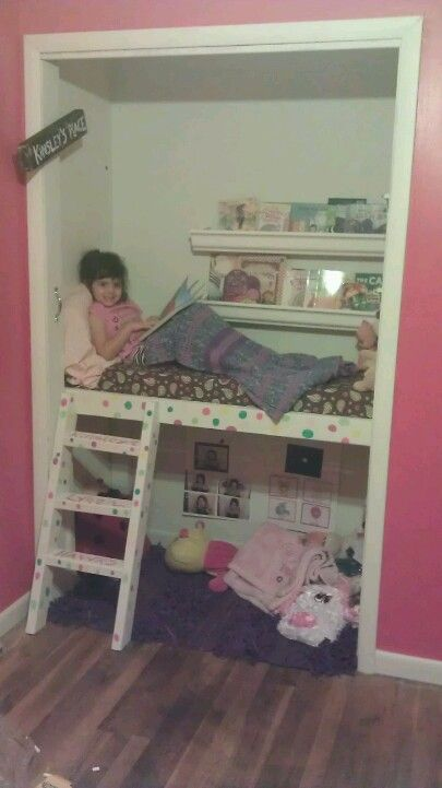 Closet Turned In To A Reading Loft And Safe Place