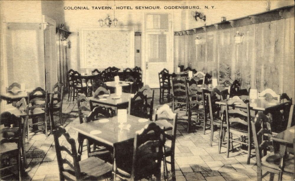 Colonial Tavern Hotel Seymour Ogdensburg New York C1910