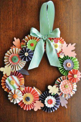 Simply Autumn Paper Wreath