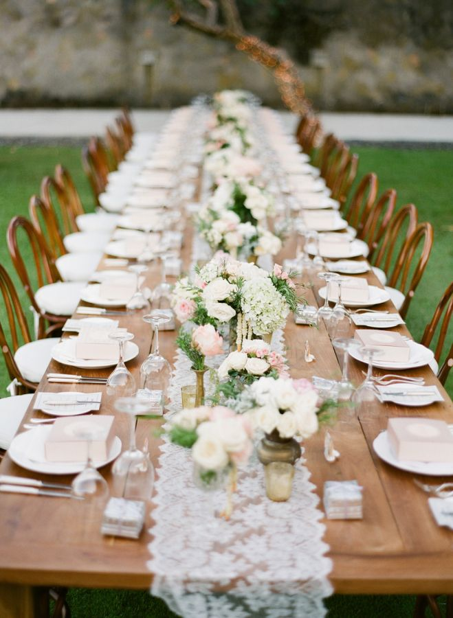 lovely wedding table runner ideas lace runners with votive tealight candle holders and awesome floral - Wedding Table Runners