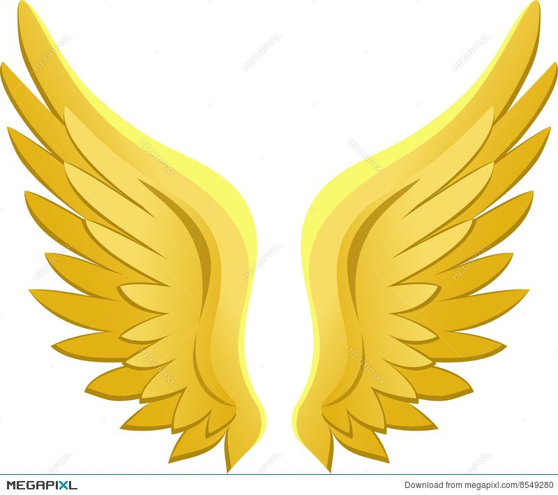 Royalty Free Clipart Image: A Guardian Angel Watching Over a Girl Walking  on a Broken Bridge