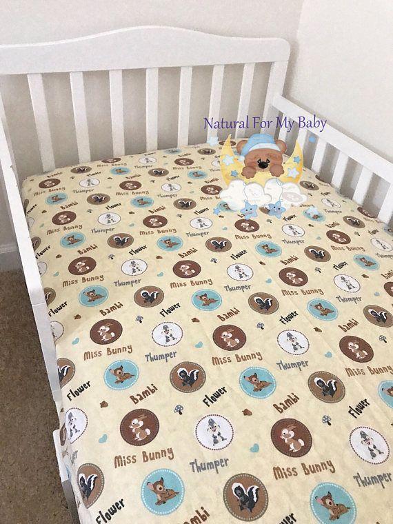 ac15fee2c8407 CottonFitted Crib Sheet Bambi Crib Sheet Animals Bedding   Crib ...