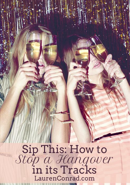 Sip This: How to Stop a Hangover in its Tracks