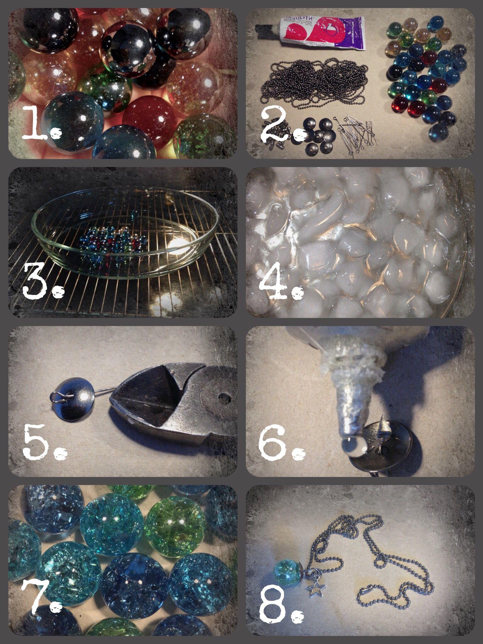 Cracked marbles / rissige Murmeln DIY : Glasmurmeln im Ofen bei 200 ...