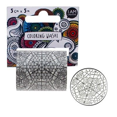 IAMCREATIVE Coloring Washi Tape, 5 cm x 5 m
