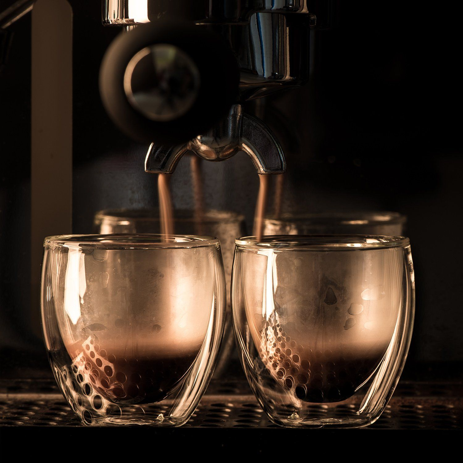 Espresso Shot Glass Cups For All Coffee Lovers 80ml 2.7 oz ...