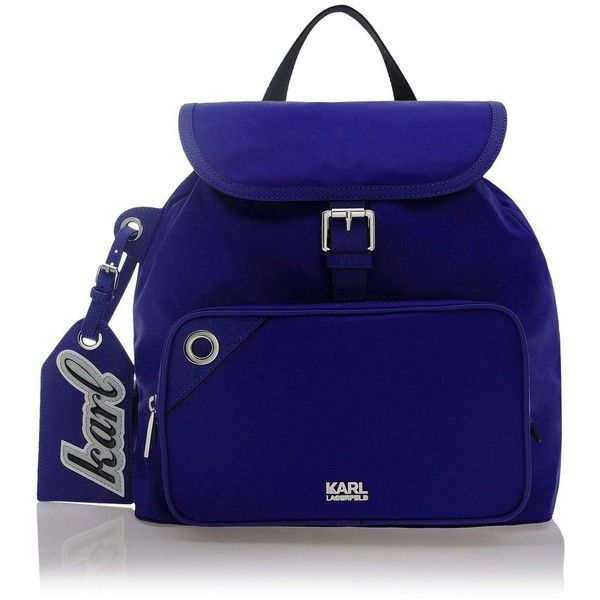 540e04a5ec27 Karl Lagerfeld K Nylon Backpack ( 270) ❤ liked on Polyvore featuring bags