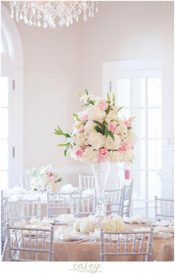 Elegant pink + white decor! | Romantic Pastel Wedding- Romantic ...