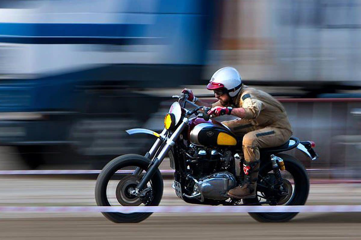 "Triumph Bonneville Scrambler ""MX EVO"" by Ton Up Garage #riding #motorcycles #motos | caferacerpasion.com"