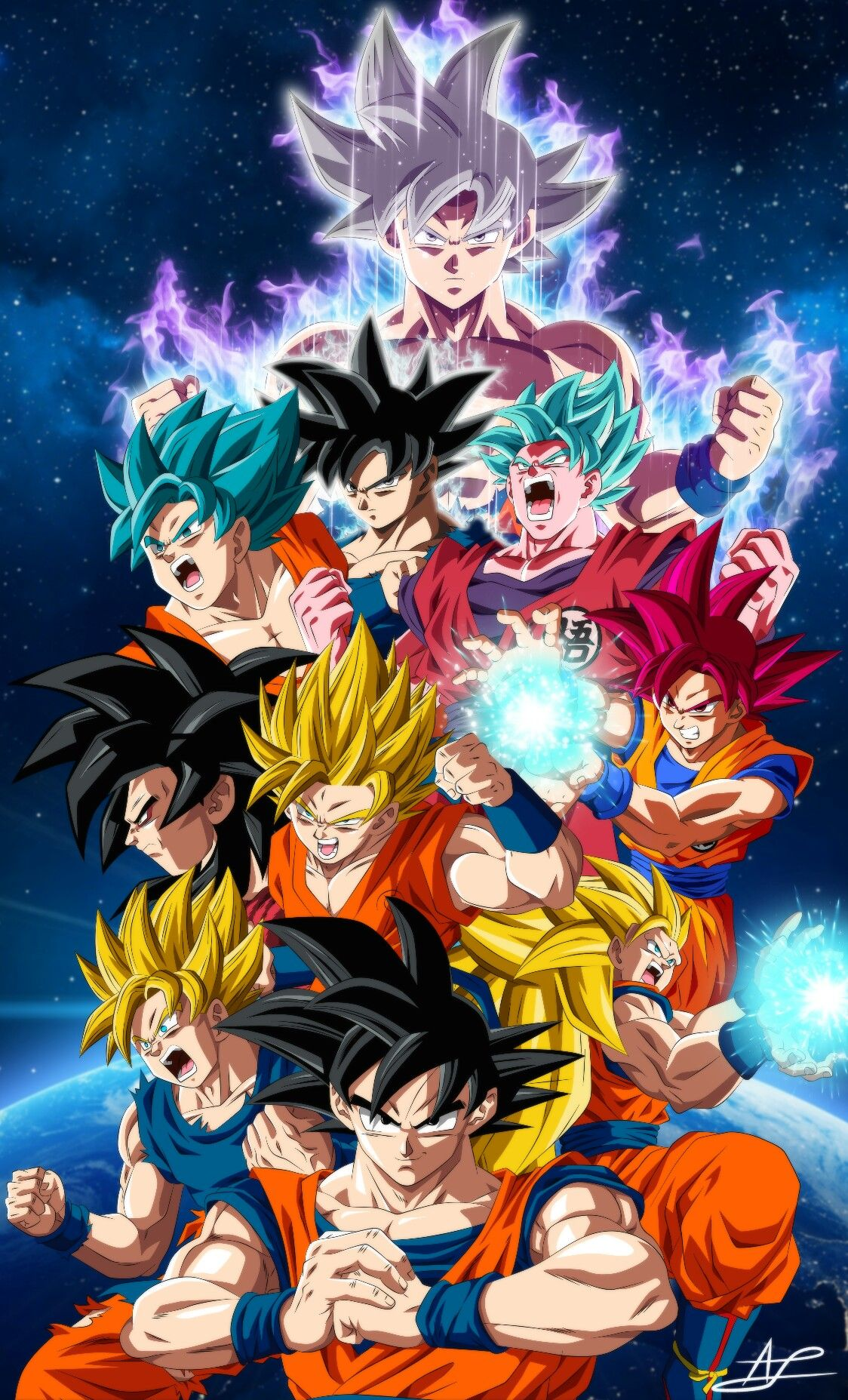 Son Goku All Forms Wallpaper