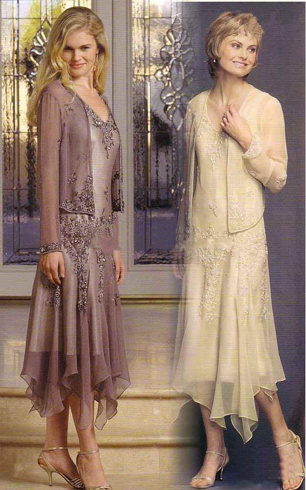 Gorgeous Appliques Beads Mother Of The Bride Dresses With Jacket