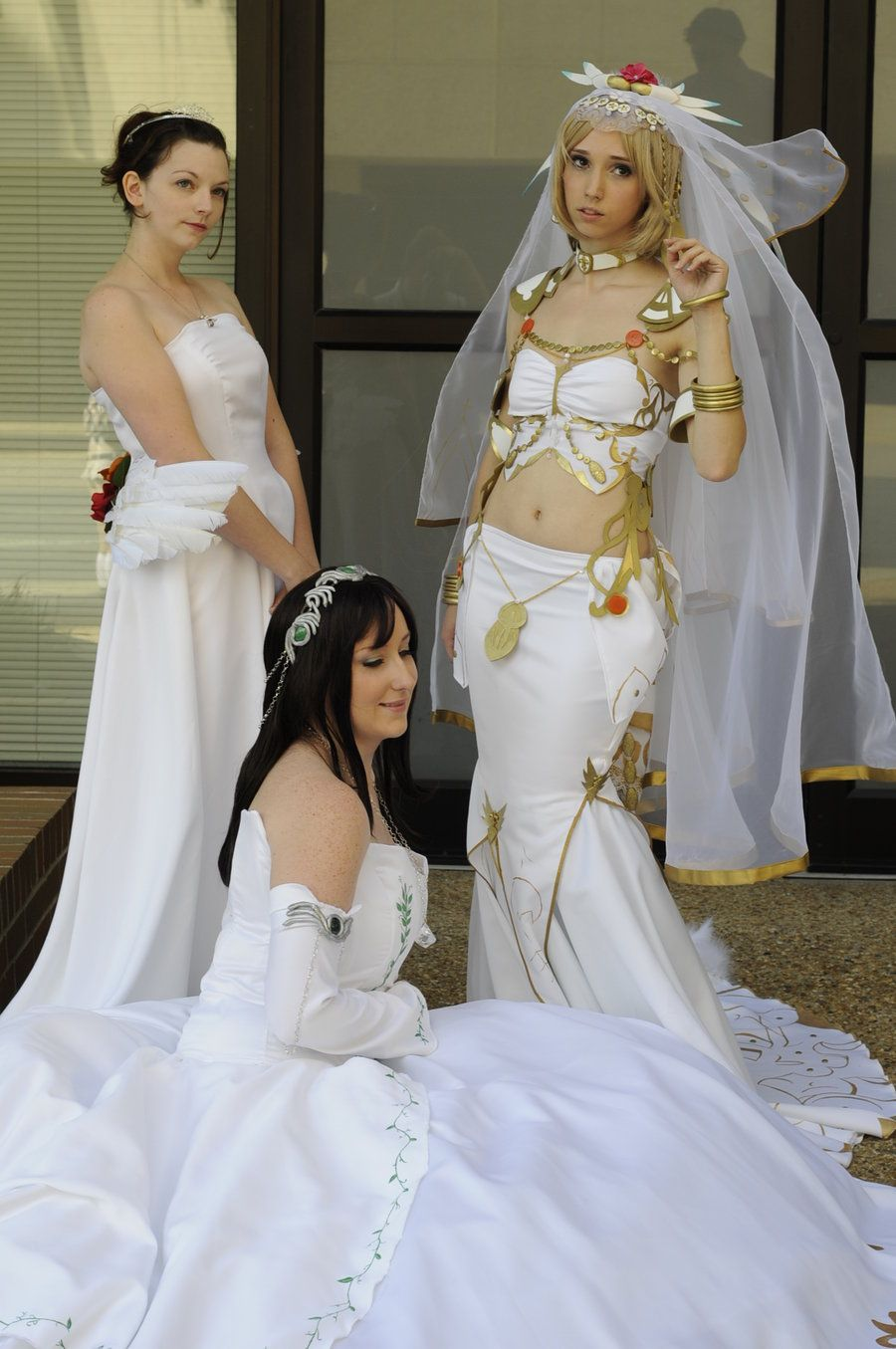 Final Fantasy Wedding Dress Yuna Garnet And Ashe By Popecerebus