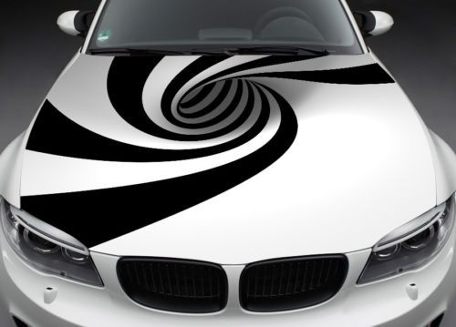 Abstract Full Color Graphics Adhesive Vinyl Sticker Fit Any Car - Custom vinyl decals for car hoodsowl full color graphics adhesive vinyl sticker fit any car hood